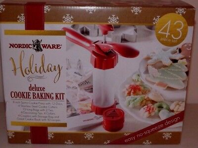 Nordic Ware Spritz Deluxe Complete Holiday Cookie Baking Kit New 43 Piece Set