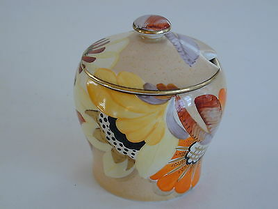 Art Deco Grays Susie Cooper style  Jam Pot gilded & hand painted A2112