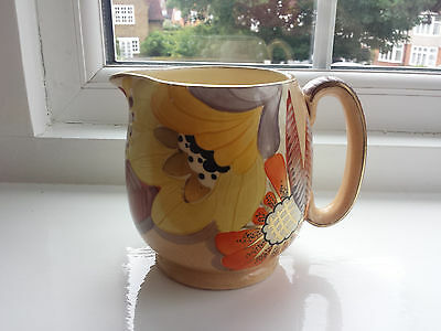 Art Deco Grays Susie Cooper style Jug handpainted & Gilded 'Sunbuff' A2999