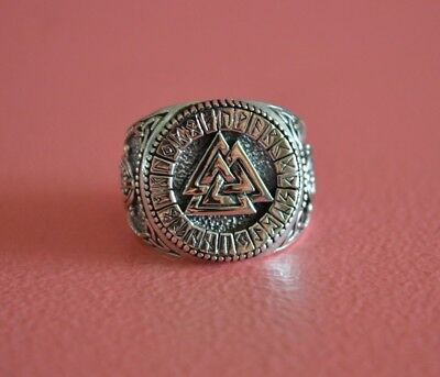 925 Sterling Silver Men Symbols Valknut Ring - Celtic, Snake, Valknut Ring
