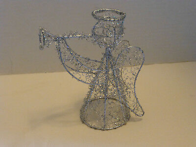 Angel Tree Topper Wire Sparkles Trumpet Horn Christmas Decor