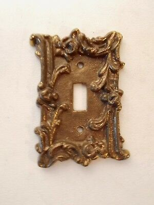 Antique Style Fancy Brass Color -  Cast Metal Light Switch Cover