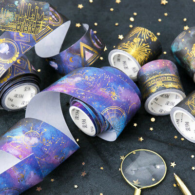 5m Starry Sky Washi Tape DIY Scrapbooking Planner Masking Tape Adhesive Sticker
