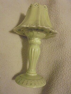 Yankee Candle Light Green 2Pc Lamp..scalloped Top..tea Light....pretty...(Shelf)