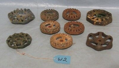 9 Vintage Industrial Machine Age Steel Water Valve Handle Steampunk Altered Art