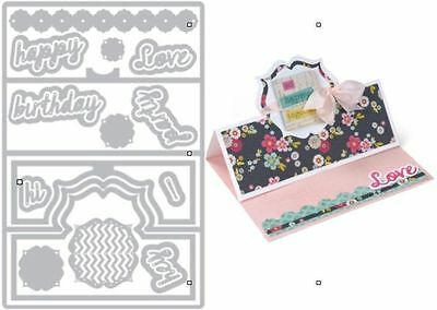 Sizzix Thin Framelits Die Set ~Regal Stand Card Code 559211 22Pk (Special)
