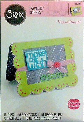 Sizzix Thin Framelits Die Set ~Scallop Card W/banners & Greetings 15Pk (Special)