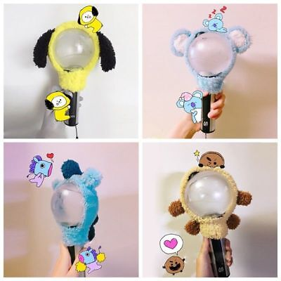 KPOP Bangtan Boys BTS BT21 Chimmy Shooky Light Stick Plush Head Cover LightStick