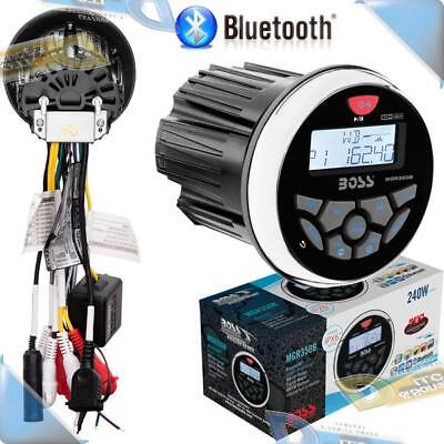 NEW BOSS AUDIO Marine/Boat In-Dash Mechless USB/AUX/MP3 Stereo Radio w/Bluetooth