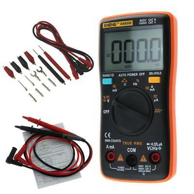 AN8008 True-RMS Digital Multimeter 9999 Counts Ammeter Voltage Meter Tester RR