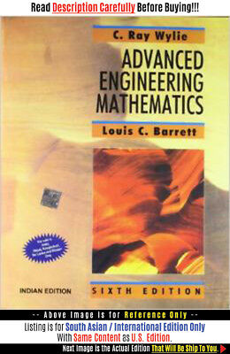 *FAST SHIP* - Advanced Engineering Mathematics, 6E by C. Ray Wyl