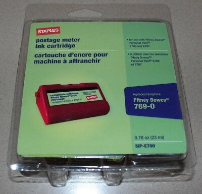 Staples E700 Personal Postage Meter Ink Cartridge for Pitney Bowes 769-0