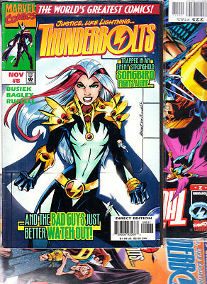 THUNDERBOLTS nºs  2. 6. 8.   ( LOTE 3  NUMEROS ) MARVEL ORIGINAL EN INGLES.