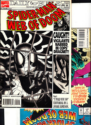 SPIDER-MAN : WEB OF DOOM nºs 2. 3. (LOTE 2 NUMEROS ) MARVEL ORIGINAL EN INGLES.