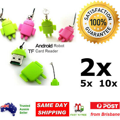 Micro SD TF Card Reader Adapter Android Robot Reader Memory Card PC Laptop Phone
