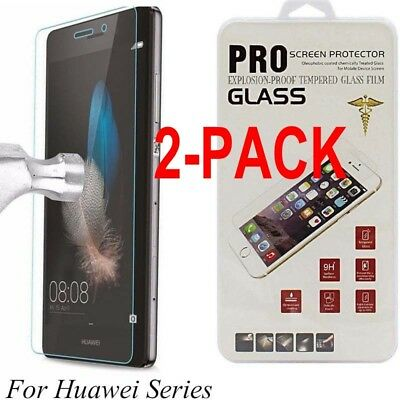 2X Tempered Glass Film Screen Protector For Huawei P8/P9/P10Plus/Lite Honor7 8 9