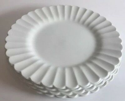 Vintage J & G Meakin Classic White Set of 4 Bread & Butter Plates England