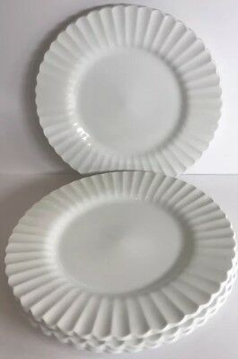Vintage J & G Meakin Classic White Set of 4 Dinner Plates (English Ironstone)