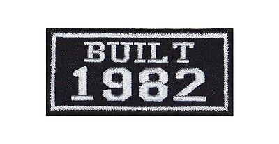 Built 1982 Biker Patches Year of Birth Construction Number Motorcycle MC Badge