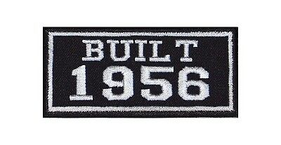 Built 1956 Biker Patches Year of Birth Construction Number Motorcycle MC Badge