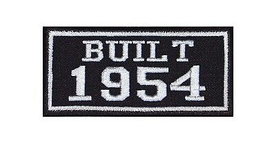 Built 1954 Biker Patches Year of Birth Construction Number Motorcycle MC Badge