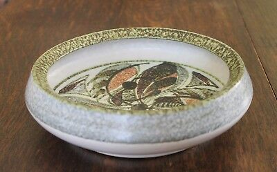 """Bourne Denby Bowl Glyn Colledge Signed 7 3/4"""" Across Top"""