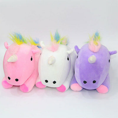 Cute Rainbow Pony Horse Pillow Festival Decoration Nursery Comfortable Gifts Toy