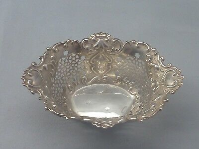 One antique English sterling silver art nouveau bon bon dish - Birm 1902