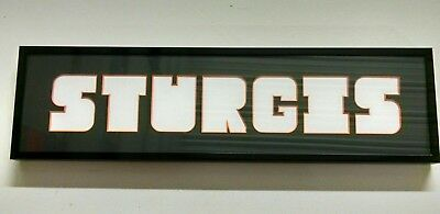 STURGIS Motorcycle Rally picture frame - a picture in each letter opening!
