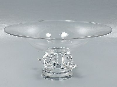 Large Vintage Steuben Crystal Footed Bowl - Compote Tazza Fruit Centerpiece - GL