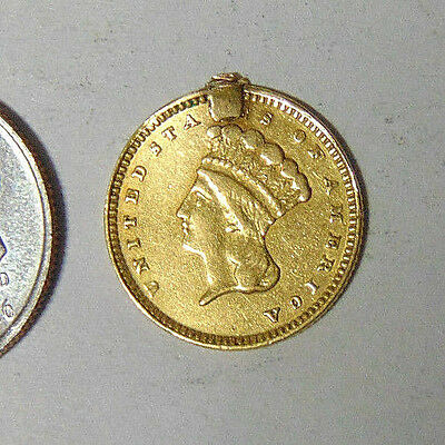 Indian Princess Gold Dollar 1856-1889 Type 3 Fancy Engraved Love Token (#9)