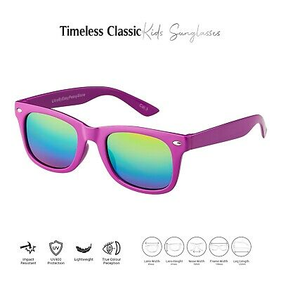 Purple Kids Childrens Sunglasses UV400 Classic Shades Girls Boys Fashion Glasses