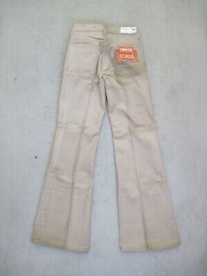 70s LEVI'S 644 CORDS Flares W27 Jeans Schlag Cord Hose Booty Hippie True Vintage