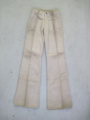 70s LEVI'S 609 CORDS Flares W26 Jeans Schlag Cord Hose Booty Hippie True Vintage