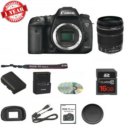 Canon EOS 7D Mark II Digital SLR Camera with 18-135mm STM Lens + 16GB MC NEW!