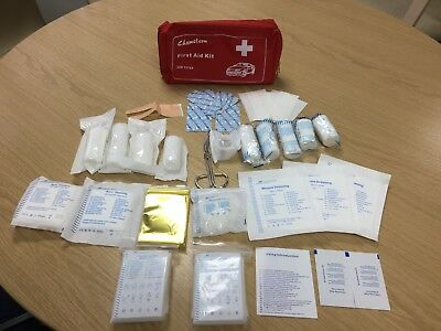 First Aid Kit Bag Pouch for Home, Car & Holiday Travel Emergency - DIN 13164
