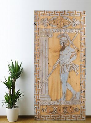 Antique Door Carved,Vintage Solid Wood Panel Wall Decor Architectural (63'')
