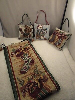 New Longaberger Christmas Stocking Wall Hanging and Door Knob Hangers