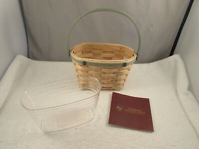 New 2007 Longaberger Jelly Belly Basket & Protector B-10