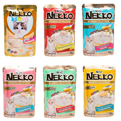 70g Nekko Cat Wet Food Real Tuna Fish With Omega 3 Taurine For Kitten Or Adult