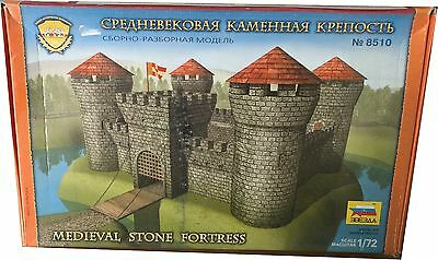 Zvezda Medieval Stone Fortress Ref 8510 Model Kit  Escala 1:72, Nuevo