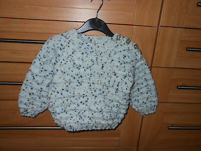 Baby Boys New Hand Knitted Jumper Age 9Mths