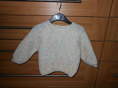 Baby Girls New Hand Knitted Jumper Age 9/12Mths