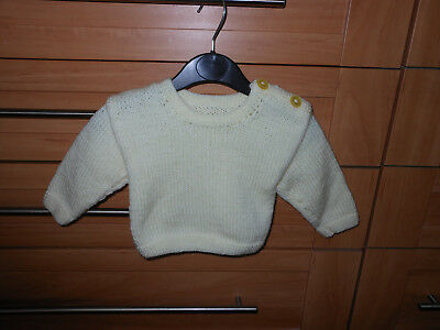Hand Knitted New Baby Boy/girls Jumper Age 0/3Mths