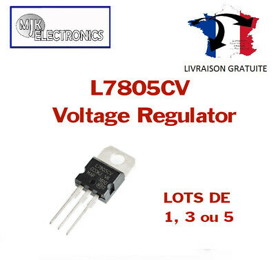 Voltage Regulator L7805CV / LM7805 / L7805 (5V / TO220)