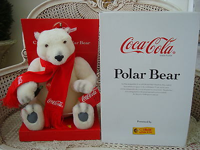 Steiff 1999 Coca Cola Coke Polar Bear Collectible Retired *new In Box* So Cute