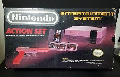 Nintendo Entertainment System Action Set Boxed Console Complete Boxed NES
