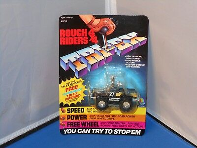 1984 LJN Rough Riders 4X4 Toyota Tuff Truck Toy Mint On Unpunched Card! Stompers