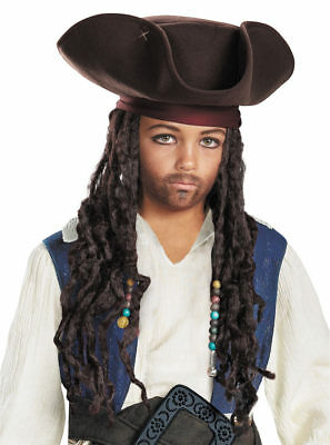 Pirates of the Caribbean- Jack Sparrow Child Hat with Beaded Braids
