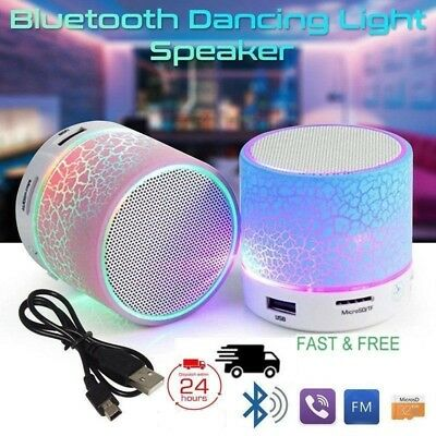 LED Portable Mini Bluetooth Speaker Wireless Bass Speaker With TF USB FM Radio G